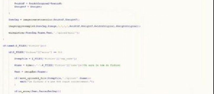 Tuto Upload de fichier et Redimensionnement d'image Php